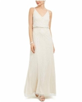 Adrianna Papell Embellished Blouson Gown - Ivory