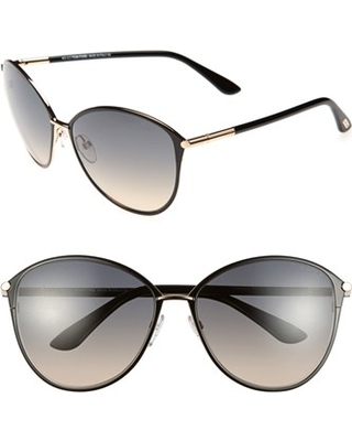 5881a8b17eeab Women s Tom Ford Penelope 59Mm Gradient Cat Eye Sunglasses - Shiny Rose Gold   Black