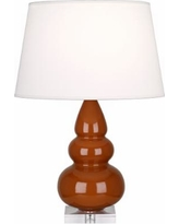 Robert Abbey Cinnamon Triple Gourd Ceramic Table Lamp
