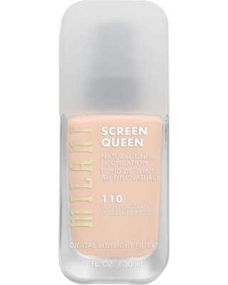 Milani Screen Queen Cruelty Free Foundation with Digital Bluelight Filter Technology - 110 Cool Porcelain - 1 fl oz