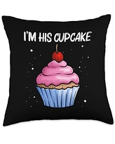Best Cupcake Food Pastries Bakery Owner Clothes Cute Gift for Girls Kids Baker Baking Cupcake Lovers Throw Pillow, 18x18, Multicolor