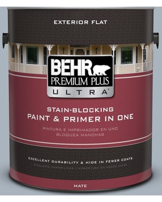 Sales For Behr Ultra 1 Gal Mq5 23 Intercoastal Gray Flat Exterior Paint And Primer In One