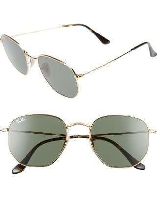 6955298931 Shopping Special  Ray-Ban 54Mm Aviator Sunglasses - Gold  Green