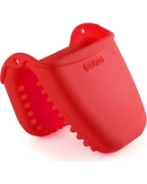 Dexas Mini Silicone Oven Mitt with Raised Nibs, Red