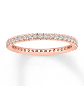 Jared The Galleria Of Jewelry Diamond Eternity Band 1/2 ct tw Round-cut 14K Rose Gold