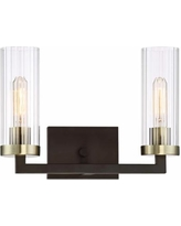 """Ainsley Court 10""""H Aged Kinston Bronze 2-Light Wall Sconce"""