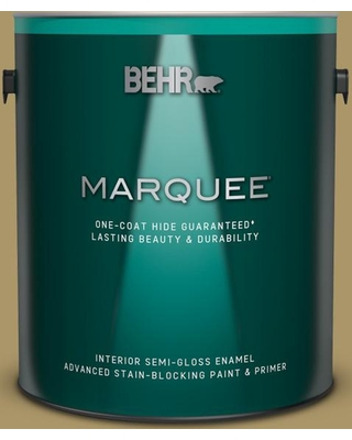 BEHR MARQUEE 1 gal. #PPU8-05 Eco Green Semi-Gloss Enamel Interior Paint and Primer in One