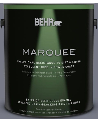 BEHR MARQUEE 1 gal. #N540-5 Infamous Semi-Gloss Enamel Exterior Paint and Primer in One