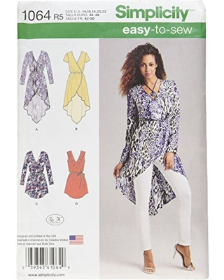 Simplicity 1064 Learn to Sew Summer Tunic Sewing Pattern for Women, Sizes 14-22
