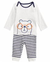 First Impressions Baby Boys 2-Pc. Bear-Print Top & Leggings Set, Created for Macy
