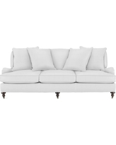 Bedford Sofa with Standard Cushion, Brushed Canvas, Solid, White