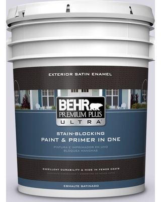 BEHR ULTRA 5 gal. #MQ3-30 Petal Tip Satin Enamel Exterior Paint and Primer in One