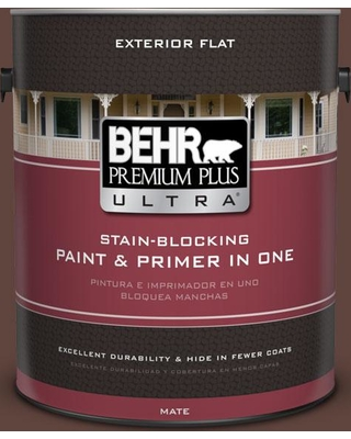 BEHR ULTRA 1 gal. #S-G-780 Spiceberry Flat Exterior Paint and Primer in One