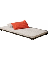 Twin Roll-Out Trundle Bed Black Frame - Walker Edison BT40TBBL