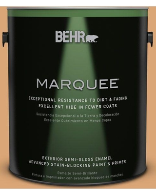 BEHR MARQUEE 1 gal. #bic-14 Fresh Nectar Semi-Gloss Enamel Exterior Paint and Primer in One