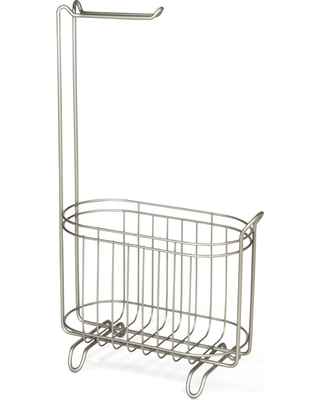 Reserve Basket Pearl With Freestanding Toilet Tissue Holder Silver - Threshold