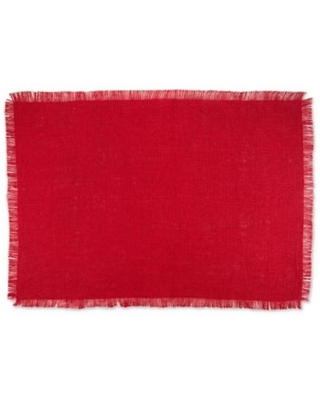 Design Imports Jute Placemats in Red (Set of 6)