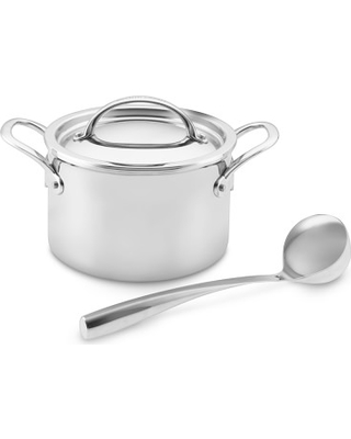 Williams Sonoma Thermo Clad Tm Stainless Steel 4 Qt Soup