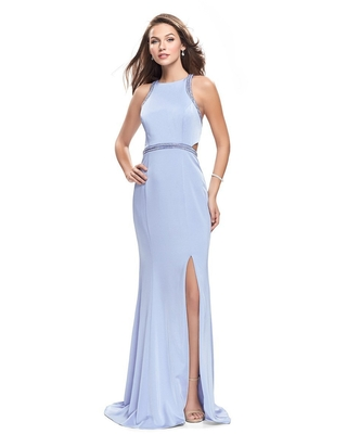 La Femme Gigi - 26069 Sleeveless Beaded Jersey Sheath Gown