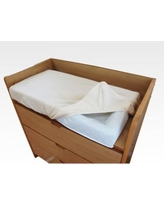 LA Baby 30-in. Four-Sided Changing Pad & Cover Set, White