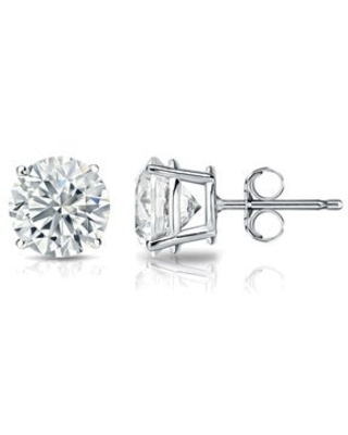 Lab Grown 1 3/8ctw Diamond Stud Earrings 14k Gold by Ethical Sparkle (White)