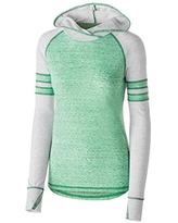 Holloway Girls Advocate Hoodie, Kelly/Silver, S
