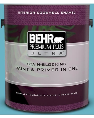 BEHR ULTRA 1 gal. #530D-5 Riverside Blue Eggshell Enamel Interior Paint and Primer in One