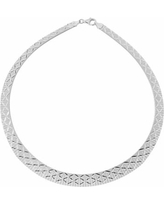 Silver Classics Sterling Silver Omega Necklace, Women's