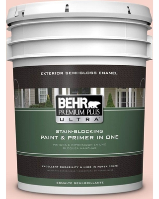 BEHR ULTRA 5 gal. #P180-1 Deco Shell Semi-Gloss Enamel Exterior Paint and Primer in One