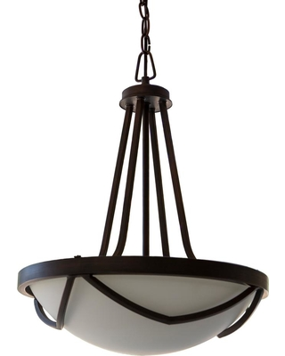 Decor Therapy Easton 1-Light Black with Glass Shade Pendant