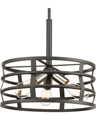 Progress Lighting Remix Collection 3 -Light Graphite Pendant