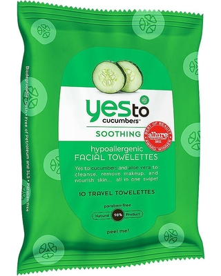 Yes to Cucumbers Facial Wipes Trial Size - 10ct
