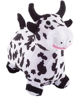 Bouncy Cow- Inflatable Indoor Ride-On Hopper and Balance Exercise Animal Toy for Toddlers, Air Pump Included by Happy Trails