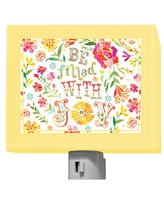 """Oopsy Daisy Night Light, Be Filled with Joy, 5"""" x 4"""""""
