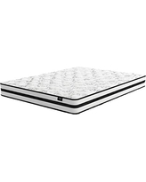 Signature Design by Ashley Chime by Ashley - 8 Inch Chime Express Hybrid Innerspring Mattress - Bed in a Box - Full Size - White