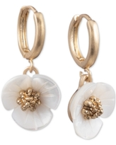 lonna & lilly Gold-Tone Imitation Mother-of-Pearl Flower Drop Small Earrings