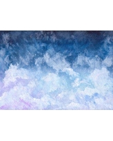 "Wrought Studio Dowling Removable Watercolor Clouds Nursery 6.42' L x 100"" W Peel and Stick Wallpaper Roll CG293074"
