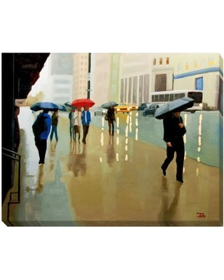 Artistic Home Gallery 'New York State of Mind' by Tate Hamilton Painting Print on Wrapped Canvas 2228189LG