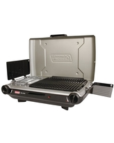 Coleman® Tabletop Propane Gas Camping 2-in-1 Grill/Stove 2-Burner, Gray