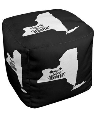 East Urban Home Home Sweet Syracuse Cube Ottoman EBJC3112 Upholstery Color: Black