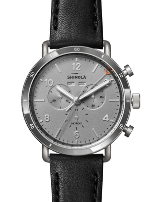 Men's Shinola The Canfield Sport Chronograph Leather Strap Watch, 45mm
