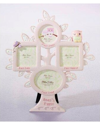 Harriet Bee Frierson Baby's First Year Picture Frame Pink Owl W000994133