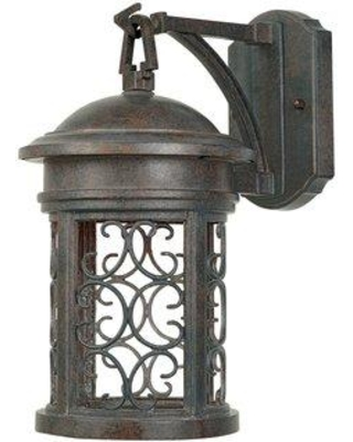"""Darby Home Co Cole 1-Light Outdoor Wall Lantern DBHM5800 Finish: Mediterranean Patina Size: 13"""" H x 7"""" W"""