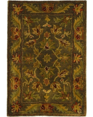 Safavieh Antiquity Green/Gold 2 ft. x 3 ft. Area Rug, Grey