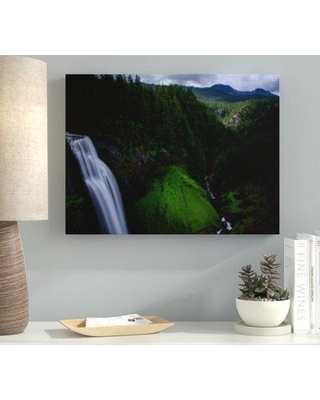"""Ebern Designs 'Waterfall (164)' Photographic Print on Canvas BF122215 Size: 12"""" H x 16"""" W x 2"""" D"""