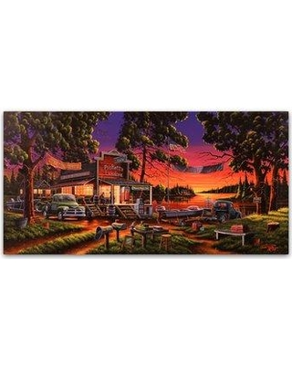 """Winston Porter 'Small Town Bass Tournament' Graphic Art Print on Wrapped Canvas WNST5563 Size: 24"""" H x 47"""" W"""
