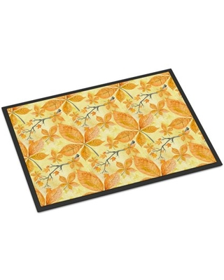 Fall Leaves and Branches Door Mat