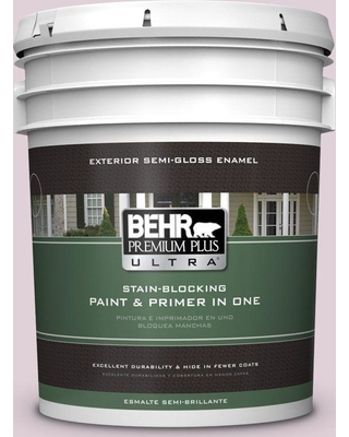 BEHR Premium Plus Ultra 5 gal. #690E-2 Heather Rose Semi-Gloss Enamel Exterior Paint and Primer in One