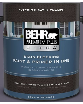 BEHR ULTRA 1 gal. #N560-6 Fashionista Satin Enamel Exterior Paint and Primer in One