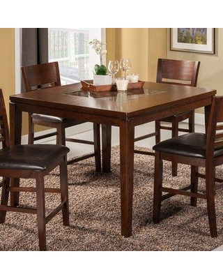 Deals For Red Barrel Studio Cici Pub Table In Brown Size 41 H X 48 W X 48 D Wayfair E8eb6ef27811407fac674b80e1c1727f